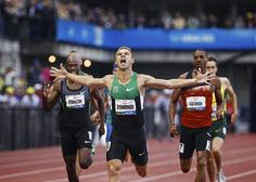 Nicholas Symmonds wins the 800m with a time of 1:43.92 during the U.S. Olympic Trials at Hayward Field, in Eugene, Ore., June 25, 2012. Thomas Boyd/The Oregonian