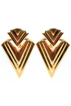 Vintage Napier triangle earrings