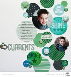 #papercraft #scrapbook #layout  MOMENTS: Currents with Lisa Dickinson by bluestardesign @2peasinabucket