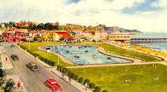 Postcard from 1954 featuring Felixstowe Seafront. Felixstowe is a coastal town in the county of Suffolk in the United Kingdom.