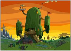adventure time treehouse - Google Search