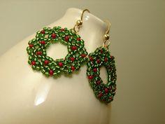 bead wreath earrings