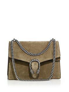 Gucci Dionysus Suede Shoulder Bag Color:Taupe  AED 9679.83