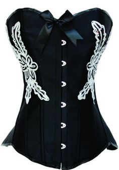 Burlesque Clothing | Black Steel Boned Embroidered Corset Only $69.99 #fashion