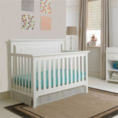 The Contemporary Snow White Convertible Crib is the perfect piece for your child's modern room!