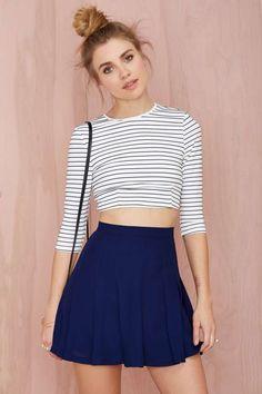 Nasty Gal Pleatest Taboo Crepe Skirt | Shop Skirts at Nasty Gal