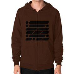 M_O_R_S_E Dark Variant Zip Hoodie (on man) Shirt