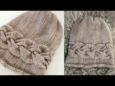 Knitted cap with a cross braid. Cap spokes \ | Акксессуары | Postila