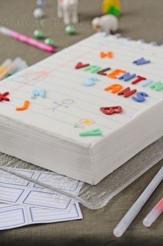 DIY Notebook Cake