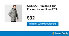 ONE EARTH Men's Four Pocket Jacket Save £53, £32 at Ultimate Outdoors