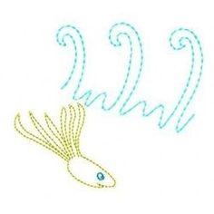 Fish 1, 3 - 4x4 | What's New | Machine Embroidery Designs | SWAKembroidery.com Gosia Design