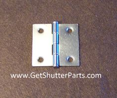 "Nickel Satin / Brushed Nickel 2"" X 2"" Interior Plantation Shutter Hinge"