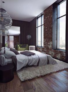 find this pin and more on b e d r o o m int - Brick Wallpaper Bedroom Ideas
