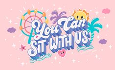 Cute Stickers, Making Stickers, Finished Quotes, Santa Monica Place, Lauren Hom, Doodle On Photo, School Murals, Types Of Lettering, Mural Art