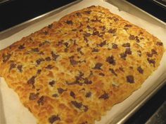 Sausage Breakfast Focaccia - 1.87 net carbs per serving / Buttoni's Low Carb Recipes