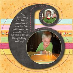 Cute for any age/birthday page