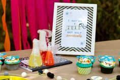 Neon and Nerdy Birthday party kit download by HappyConfettiDesign