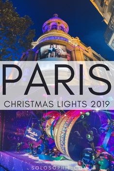 Paris Christmas: here's a glimpse of the Christmas lights in Paris France and where to find the best illuminations and Christmas decorations in the French capital