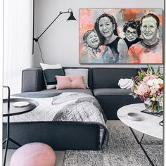 Self-taught and creative painter from Norway: I love creating unique original paintings, especially custom portraits of people and animals. Black And White Abstract, Black White, Child Love, Best Memories, Abstract Backgrounds, Original Paintings, Gallery Wall, Portraits, Colorful