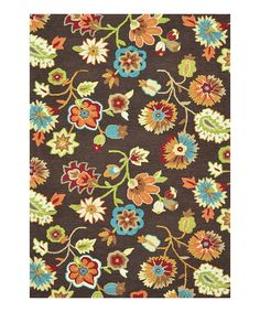 Loloi Rugs Brown Floral Juliana Rug #loloi #rugs #interiordesign