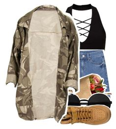 """Only Girl~"" by jaethelame ❤ liked on Polyvore featuring Miss Selfridge, Versace and NIKE"
