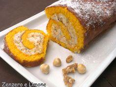 Il pumpkin roll, rotolo alla zucca è un dessert spettacolare che si prepara negli Stati Uniti durante il periodo di Halloween.