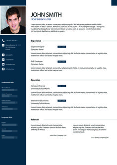 example 3 - I will design Resume, awesome Cv for you for $5…