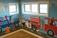 Cute kids room mural