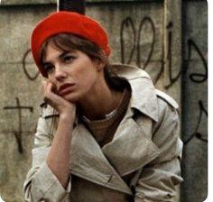 "vintageinherdream: ""Jane Birkin Vintage Beret & Trench Coat """