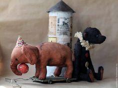 Купить Мишка Тедди Забытые артисты... - мишка, мишка тедди, слон, цирк, цирковые артисты