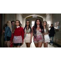 "Little Mix ""Black Magic"" [Music Video Premiere!] ❤ liked on Polyvore featuring little mix"