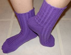 This pattern is great for learning to knit socks that are custom fit for YOU!