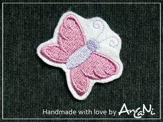 Applikation Schmetterling Aufnäher ♥ Aufbügler von AnCaNi auf DaWanda.com
