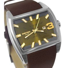 Diesel DZ1675 Starship Green dial Dark brown Date Display men's watch Fashion Casual