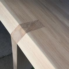 Visser table in Ash - snug fit on the hand cut joinery...
