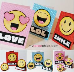 Emoji Cards, Tags and Toppers: click to enlarge