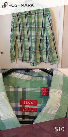 Izod plaid button down Izod plaid button down. Slim fit Izod Shirts Dress Shirts