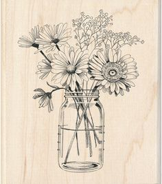 Mason Jar Crafts – How To Chalk Paint Your Mason Jars - Mintain Wine Bottle Crafts, Mason Jar Crafts, Mason Jar Diy, Art Sketches, Art Drawings, Chalk Paint Mason Jars, Whatsapp Wallpaper, Mason Jar Flowers, Diy Projects To Try