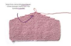 Capota de lana a punto bobo de bebé - PIxie - Tutorial y patrón