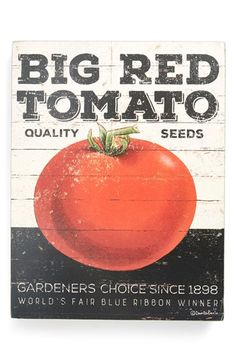 Primitives by Kathy 'Big Red Tomato' Box Sign available at #Nordstrom