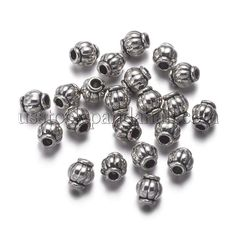 100//260Pcs Tibetan Silver Spacer Beads DIY Jewelry Making Fit Bracelet 6x4mm