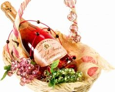 Gift for Romantic Evening - Champagne, Basket, New Year, New Year Champagne, Lovely, Celebration, Romantic, Season, Decoration, Gift