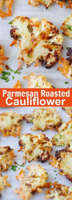 Parmesan Roasted Cauliflower – best cauliflower ever, baked in oven with butter, olive oil and Parmesan cheese. A perfect side dish | http://rasamalaysia.com