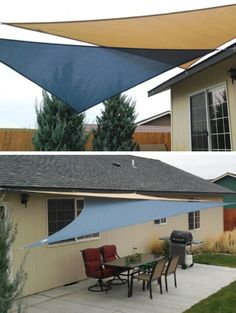 Cover Your Outdoor Space With Shade Sails | http://homestead-and-survival.com/cover-your-outdoor-space-with-shade-sails/ | No matter the weather, you'll love these attractive sail shades.