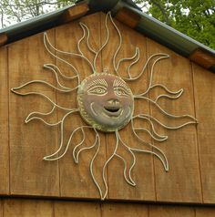 Sun motif on the garden shed