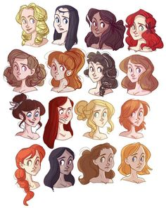 Hair-spiration for Del's inane retinue of ladies-in-waiting. So excited about these gals. :)