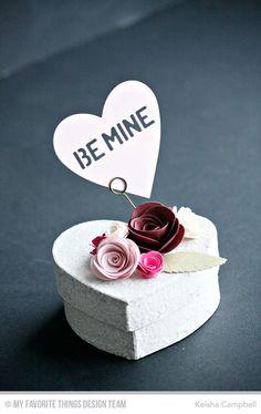 Heart STAX Die-namics, Large Hybrid Heirloom Rose Die-namics, Mini Rolled Roses Die-namics, Mini Royal Roses Die-namics, Royal Leaves Die-namics, Royal Rose Die-namics, Tag Builder Blueprints 3 Die-namics - Keisha Campbell #mftstamps