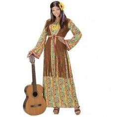 Disfraz de Hippie Largo para Mujer #Hippie #Costume