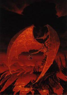 Dark Sun dragon by Brom