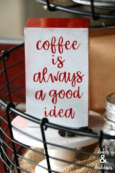 DIY coffee quote sig